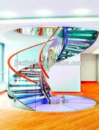 modern design indoor stainless steel oak wood spiral stairs design