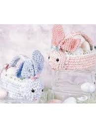 bunny baskets free crochet pattern for bunny baskets make yours in time for