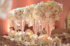 wedding reception ideas choosing tall vs short centerpiece