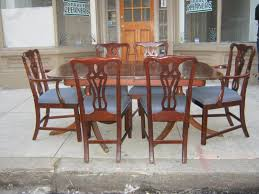 uhuru furniture u0026 collectibles duncan phyfe mahogany table and 6