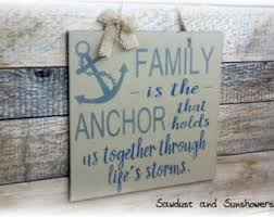 Rustic Nautical Home Decor Anchor Decor Etsy