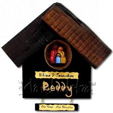 Buy House Nameplate For Family With Coconut Shell Online In INDIA - Name plate designs for home