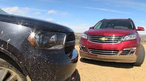 2013 dodge durango vs chevy traverse muddy off road mashup review