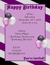 words for birthday invitation birthday templates for word europe tripsleep co