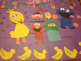 infant bulletin board sesame street infant preschool ideas