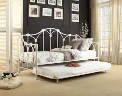 White Daybed With Trundle Daybed Amber White Daybed With Trundle Beautiful Rod Iron Daybed