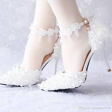 white lace wedding shoes white lace flower bridal dress shoes pointed toe high heels ankle