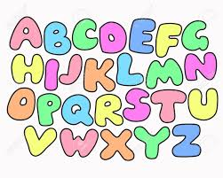 funny colors funny colorful alphabet poster for children cute cartoon alphabetic