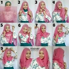 tutorial jilbab dua jilbab fasion cara memakai jilbab paris terbaru