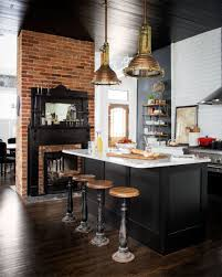Black Brick Kitchen Tiles 19 Times A Painted Ceiling Changed Everything Large Pendant