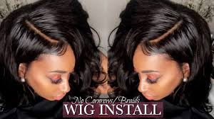 weave no leave out hairstyle brazillian glueless lace wig install no leave out no cornrows no sew