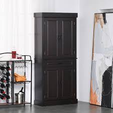 homcom 71 wood kitchen pantry storage cabinet homcom 71 freestanding kitchen pantry with 4 doors 2