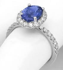 chagne diamond engagement ring color change sapphire and diamond halo ring in 14k from