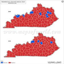 kentucky election map by county maps of usa
