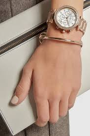 gold tone stainless steel bracelet images Michael kors parker rose gold tone jpeg