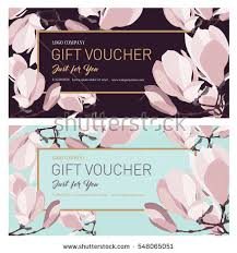 salon gift card gift premium certificate gift card gift stock vector 507860797