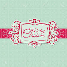 Invitation Card For Christmas Retro Christmas Card For Scrapbook Design Invitation