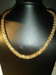 ladies necklace designs images Ladies new italian designer fancy twist necklace in gold finish JPG