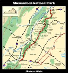 Virginia Mountains Map by Shenandoah National Park The Wild Edge