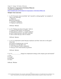 Multiple Choice Questions For Fashion Test Bank For Compensation 11th Edition Milkovich By Test Bank Issuu