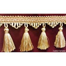Tassel Curtain Gold U0026 Copper Tone Tassel Fringe Trim Fringe Trim By The Yard