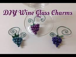 Beaded Home Decor Beaded Wine Glass Charms Hostess Gifts Home Decor Diy Tutorial