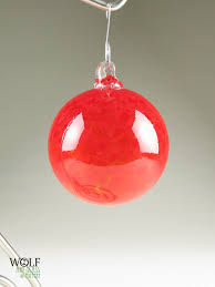 comely image of blown glass tree ornament for