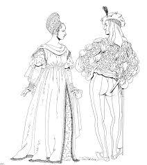 renaissance clothing016 gif 1239 1383 renascimento colorir