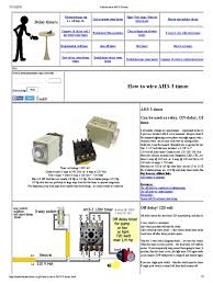 how to wire ah3 3 timer electrical connector relay