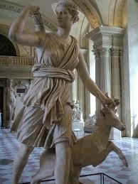 statue of artemis in the louvre museum nen gallery