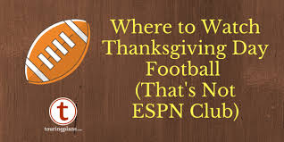 four places to thanksgiving football at walt disney world