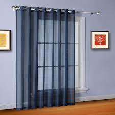 Sheer Navy Curtains 102 Wide Sheer Navy Blue Patio Door Curtains Or Room