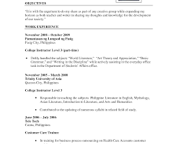 resume for teachers exles resume sle sensational for teachers template curriculum