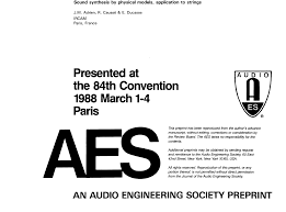 aes e library sound synthesis by physical models application to