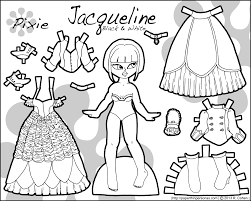 Different Color Schemes Jacqueline A Paper Doll In Four Different Color Schemes U2022 Paper