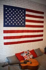 chambre etats unis chambre d ado décorée sur le thème usa etats unis avec un drapeau en