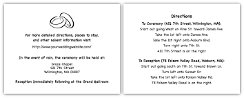 Words For A Wedding Invitation Wedding Direction Card Wording Simple Wedding Invites