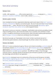 recruitment business plan template free boblab us