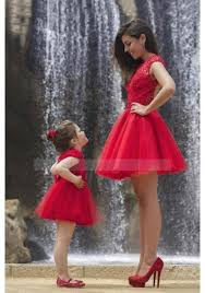 o neck new tulle short red a line prom dress os0575
