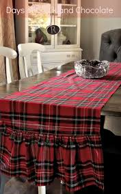 Christmas Plaid Table Runner by Red Plaid Runner Christmas Decor Days Of Chalk And Chocolate