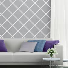 diagonal motif a surfacemotif customizable wall stencil design