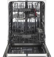ge stainless steel interior dishwasher with front controls