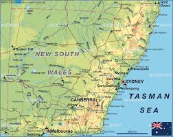 map of new south wales map of new south wales australia map in the atlas of the world