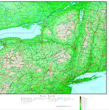 Map Of Queens New York by New York Elevation Map