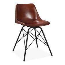 Esszimmerstuhl Retro Leder Dexter Esszimmerstuhl Aus Metall U0026 Leder Braun Industrielle Stühle
