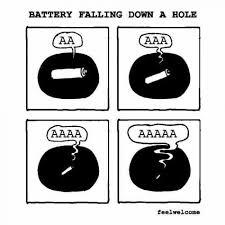 Battery Meme - battery falling down a hole meme xyz