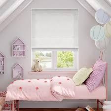 White Bedroom Blinds - velvet pure white roman blind blinds online