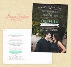 Lds Wedding Invitations Postcard Style Wedding Invitation Jeneze Designs