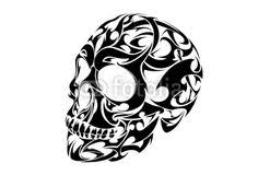 tribal skull design artwork skulls
