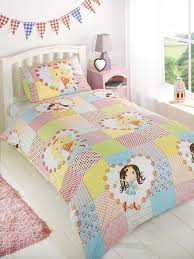 childrens girls fairy patchwork duvet cover quilt bedding set
